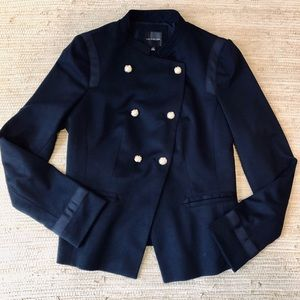 THE LIMITED NAVY BLUE MILITARY STYLE BLAZER
